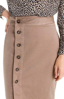 J.Crew Side Button Stretch Chino Pencil Skirt
