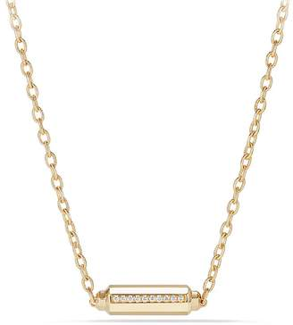 David Yurman Barrels Station Necklace with Diamonds in 18K Gold