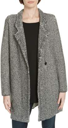 Eileen Fisher Organic Cotton Blend Tweed Coat