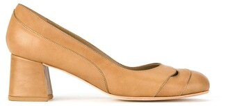 Sarah Chofakian cut out mid-heel pumps