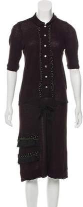 Pas De Calais Short Sleeve Midi Dress