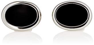 Barneys New York MEN'S OVAL CUFFLINKS - BLACK