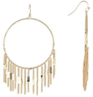 Leslie Danzis Textured Fringe Hoop Earrings