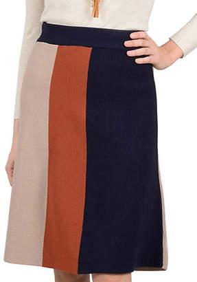 Molly Bracken Colourblock Knee-Length Skirt