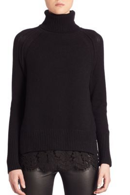 Brochu Walker Lace Cashmere Blend Sweater $398 thestylecure.com