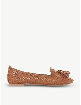 Dune Ginnette woven leather loafer
