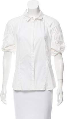Malo Poplin Button-Up Top