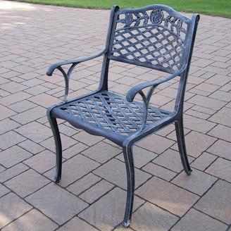 Tea Rose Cast Aluminum Outdoor Dining Chair