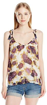 Volcom Junior's Canyon Call Floral Cami with Tassel Straps
