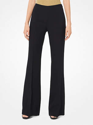 Michael Kors Crepe-Sable Flared Trousers