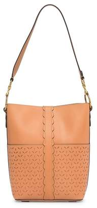 Frye Ilana Perforated Leather Bucket Hobo
