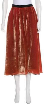 Heidi Merrick Velvet Midi Skirt