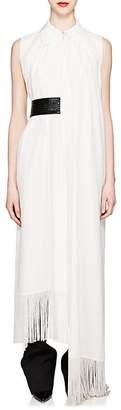 Givenchy Women's Fringe-Trimmed Silk Long Blouse