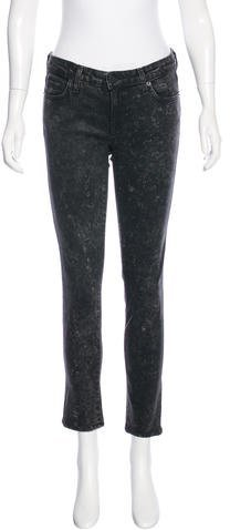 Elizabeth And JamesElizabeth and James Low-Rise Coated Jeans