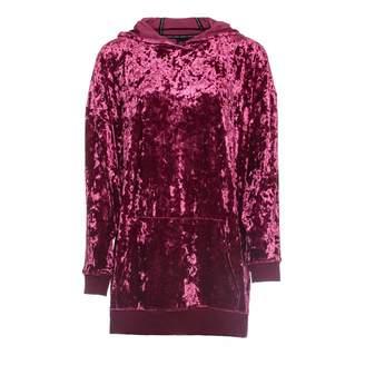 Okayla - Dusty Pink Velour Oversized Sweater Dress