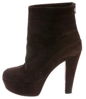 Marni Suede Platform Ankle Boots Brown Suede Platform Ankle Boots