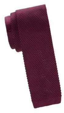 Skinny Silk Knit Tie