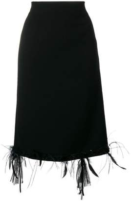 Thom Browne Raw Edge Appliqué Cardigan Skirt