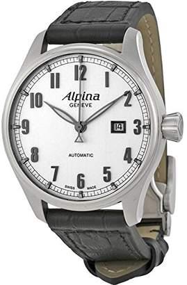 Alpina Men's AL525SC4S6 Aviation Analog Display Swiss Automatic Black Watch