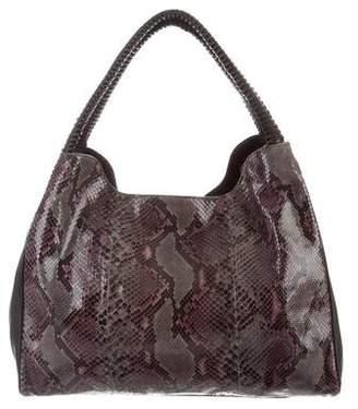 Nada Sawaya Wynn Wynn Python & Leather Hobo Bag