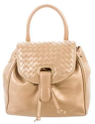 Bottega Veneta Intrecciato-Trimmed Leather Bag