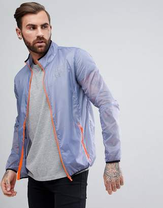 SikSilk Windbreaker Jacket In Blue