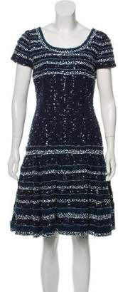 Oscar de la Renta Embellished Tweed Dress