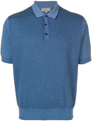 Canali dotted polo shirt