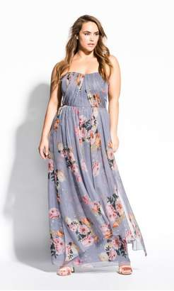 City Chic Citychic Whimsy Florence Maxi Dress - grey