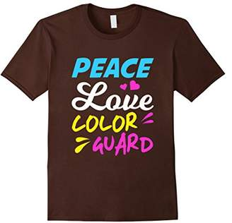 Funny Peace Love Color Guard T-shirt Marching Band Gift