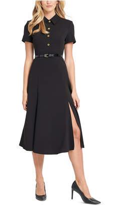 Calvin Klein Button-Front Shirtdress