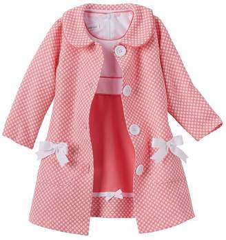 Bonnie Baby Baby-Girls Newborn Houndstooth Coat and Dress Set