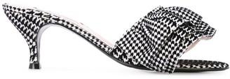 Leandra Medine printed low heel sandals