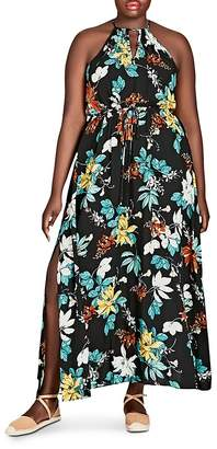 City Chic Plus Tropical Night Maxi Dress