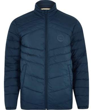 River Island Jack and Jones Originals blue quilted jacket