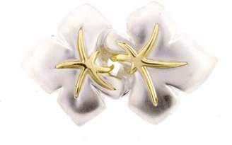 Tiffany & Co. Sterling Silver and 18K Yellow Gold Ivy Starfish Brooch