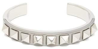 Valentino Rockstud Embellished Cuff Bracelet - Mens - Silver