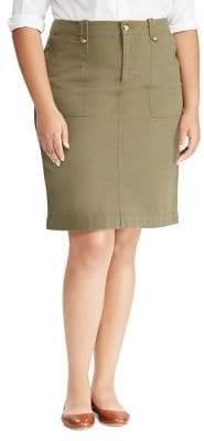 Lauren Ralph Lauren Plus Stretch Cotton Chino Skirt