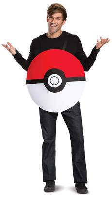 Disguise Unisex Pokeball Classic Adult Costume