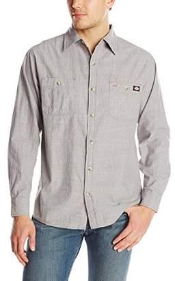 Dickies Men's Long Sleeve Printed Chambray Shirt