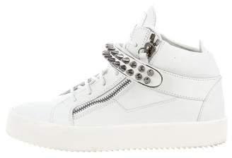 Giuseppe Zanotti Studded Leather Sneakers