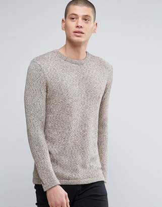 Minimum Crew Neck Two Tone Knit Sweater