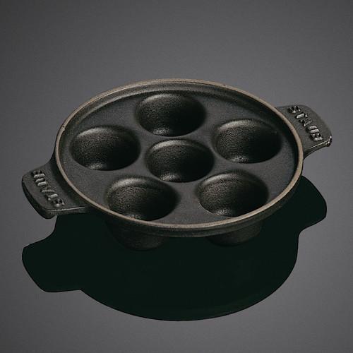 "Staub Round 5.75"" Snail Dish with 6 Holes"
