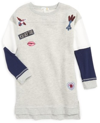 Girl's C & C California Embellished Sweatshirt Dress $58 thestylecure.com