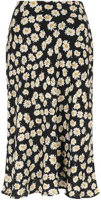 Rails London Daisy-print Midi Skirt