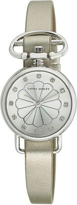 Laura Ashley Womens Silver Heirloom Watch La31001Ss $295 thestylecure.com