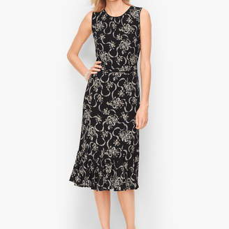 Talbots Floral Crepe Fit & Flare Dress