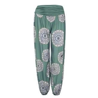 HEFEITONG hot saleYoga Pants,Yoga Pants for Women Plus Size,Womens Loose Print Ladies Harem Full Length Pants Trouser Wide Leggings
