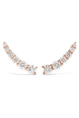 Anita Ko Floating 18-karat Rose Gold Diamond Earrings