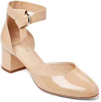 Josie Alexander White Nude Metallic Block Heel Sandals